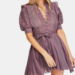 Free People Sydney Dress Plum-S/P